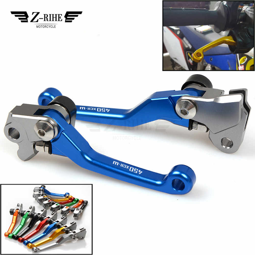 Motorcycle lever and hand grip Dirt Bike Pivot Brake Clutch Levers logo for KTM 450XCR-W 450 XCR-W 2007 2008 2009 2010 2011 2012