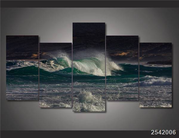 Hd Printed Tsunami Waves Painting On Canvas Room Decoration Print Poster Picture Canvas Free Shipping/Ny-1464 Christmas gift
