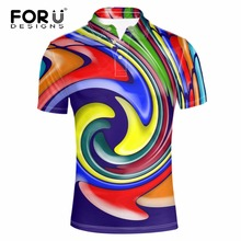 FORUDESIGNS 2017 new fashion high quality mens short sleeve polyester polo shirt, male comfortable cool design shirts