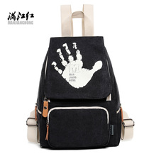 2017 New School Backpack Canvas Back Pack Leisure Korean Ladies Knapsack Laptop Travel Bags For Teenage