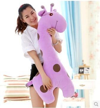 huge 85 cm purple giraffe plush toy cartoon spotted giraffe doll, throw pillow gift b4616 huge 70cm lovely gaint panda plush toy panda doll softh throw pillow christmas gift w2479