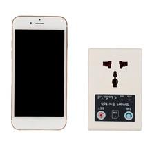 EU 220V Gsm Power Socket Plug Phone RC Remote Wireless Control Smart Switch Socket With USBGSM