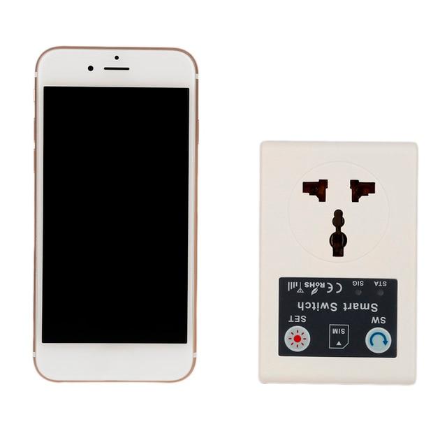 EU 220V Gsm Power Socket Plug Phone RC Remote Wireless Control Smart ...