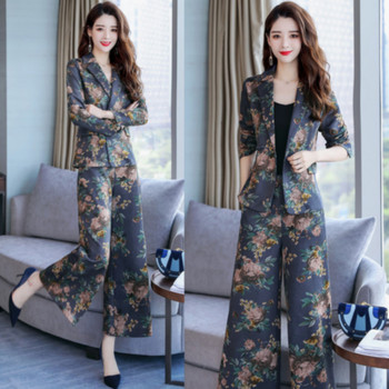 New fashion women's suit two-piece suit (jacket + pants) women's loose casual slim women's suit women's business formal suit