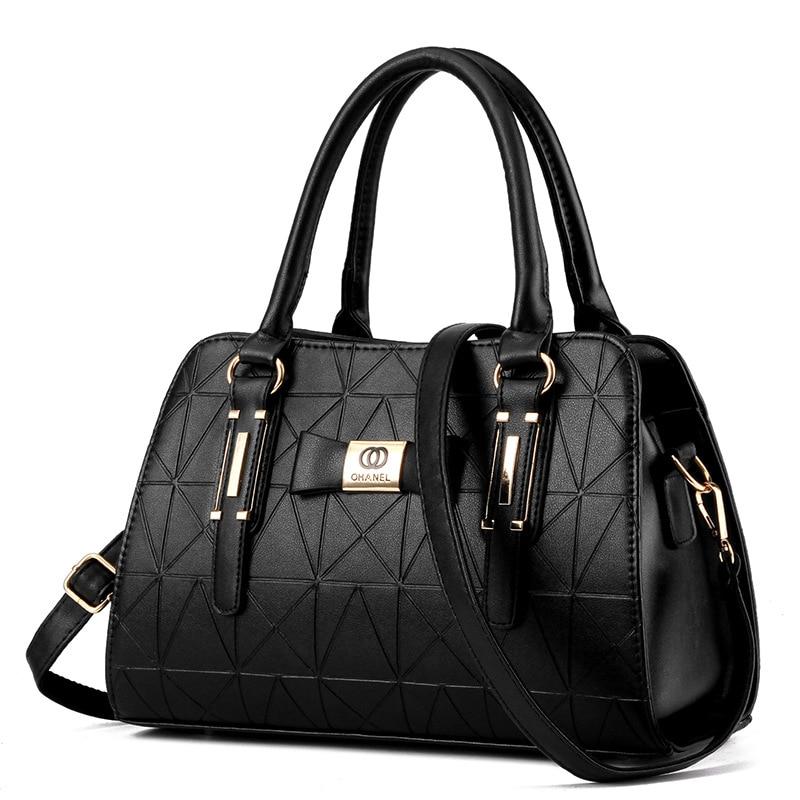 Hot Sale Fashion Women Leather Handbag Inclined Female Bow-knot Shoulder Bags Handbags Lady Shopping Tote Soft Messenger Bag Sac(China)