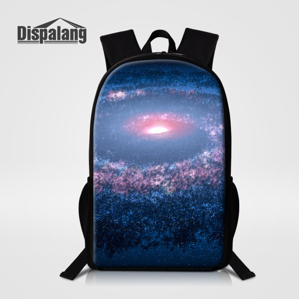 Dispalang Universe Galaxy Women Backpack Cool High School Bags for Teenage Book Bag Boys Girls Large Schoolbag Male Back pack
