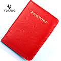 YUFANG Genuine Leather Passport Cover Wallet Business Passport Case Women And Men Classic Style Card Holder Soft Leather Purse