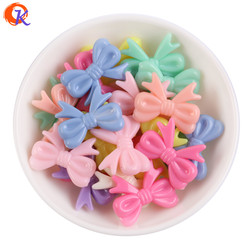 Solid Pastel Color 29*23MM 100-200PCS Chunky Cute Bow Beads Kids Bracelet Necklace Hairbow Jewelry Material Kits BD-8217