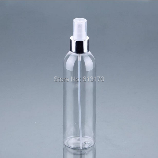 250ml Pet Spray Bottles Empty Travel Makeup Bottle Blue Perfume Vials Silver Rim Atomizer Cosmetic Packing Container Skin Care Tools