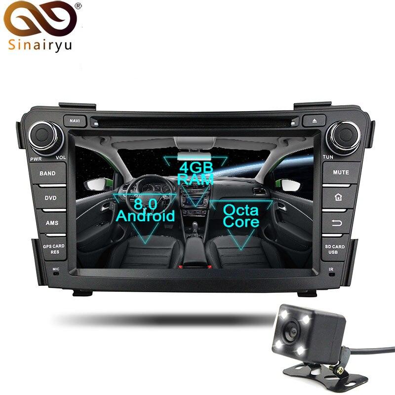 Sinairyu 2 Din Android 8 0 Octa Core Car DVD Player for Hyundai I40 2011 2014