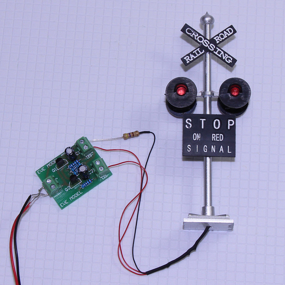 JTD1506RP 6PCS 1 150 N Scale Railroad Crossing Signals with 4 heads LEDs 6pcs Circuit board