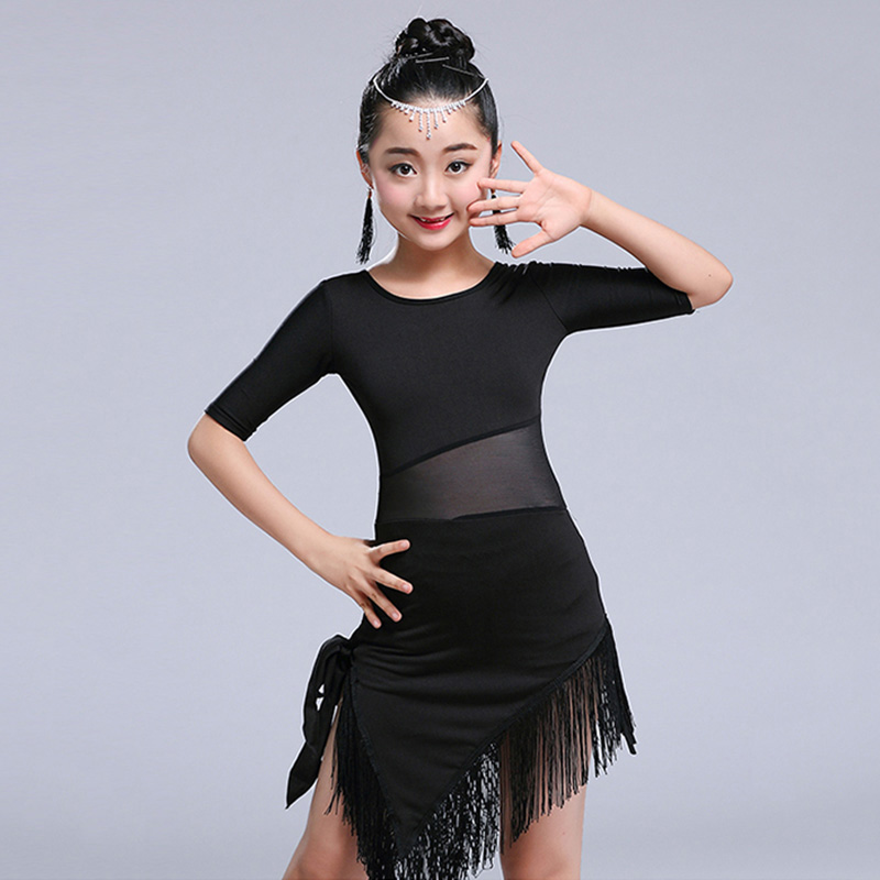 Girls Latin Dance Dress for Ballroom Dance Competition Tango Dancing Costumes Dancewear Kids Modern Salsa Tango Costumes