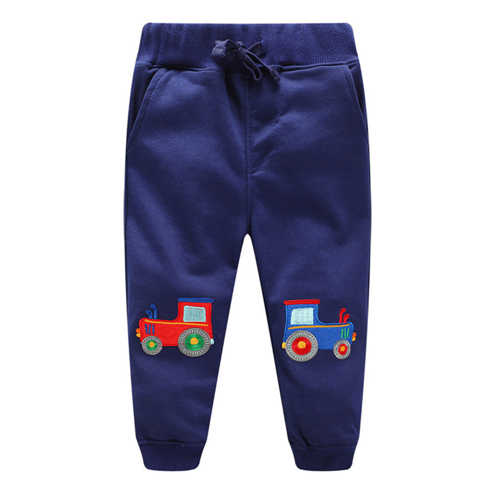 Littlemandy Boys Pants 2018 Tractor Cotton Children Trousers brand Print Autumn Winter Baby Clothes Sweaterpants Kids Leggings