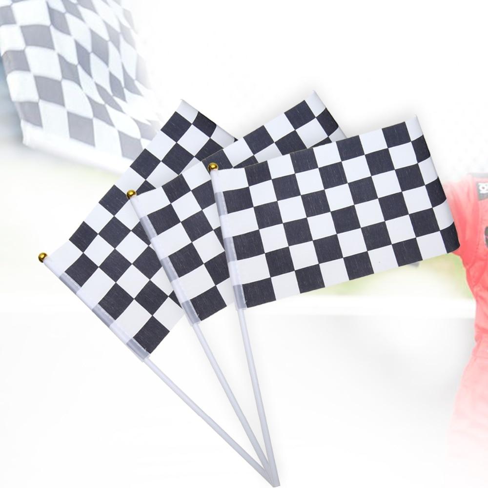 Hot Sale 12pcs/set Chequered F1 Formula One Racing Banners Hand Waving Flag High Quality Mayitr
