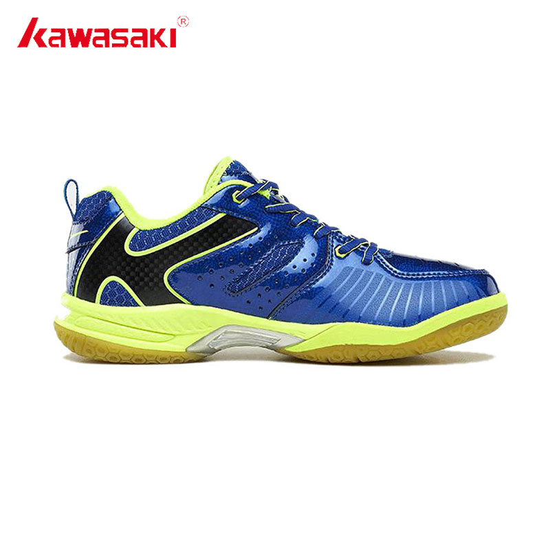 Genuine Kawasaki Badminton Shoes for Men Women PVC Floor Incort Tennis Shoes Wear-resistance Sports Sneakers 2017 K-612 613 professional brand kawasaki badminton shoes 2017 sport sneakers for men women anti slippery pvc floor sports shoe k 065 k 066