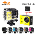 "GoldFox 2x battery Mini Camcorder go hero pro style 1080p Full HD DVR SJ4000 30M Waterproof Action Camera 1.5""LCD Screen"