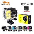 "GoldFox 2x battery Mini Camcorder go hero pro style 1080p Full HD DVR SJ4000 30M Waterproof Action Camera 1.5""LCD Screen"