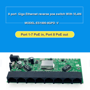 Image 2 - GPON/EPON SOLUTION SUPPLIER With VLAN 8 port 10/100M and 10/100/1000M realtek RTL8370N reverse PoE switch motherboard