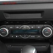Авто/C Кондиционер панель Переключатель управление ручка кнопка регулировки крышка отделка рамки Стикеры для Mazda 3 Axela 2017 2018