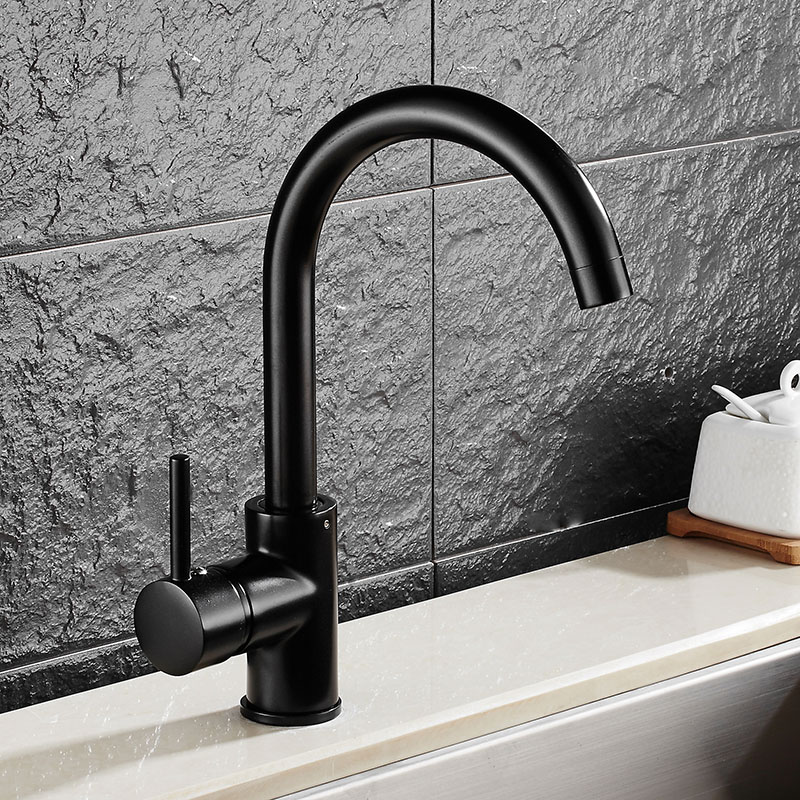 deck mounted kitchen sink basin faucet