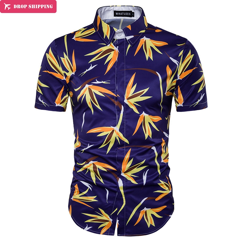 Mens Shirts Big Sizes Fashion Breathable And Comfortable Hawaiian Shirt Brand Clothing