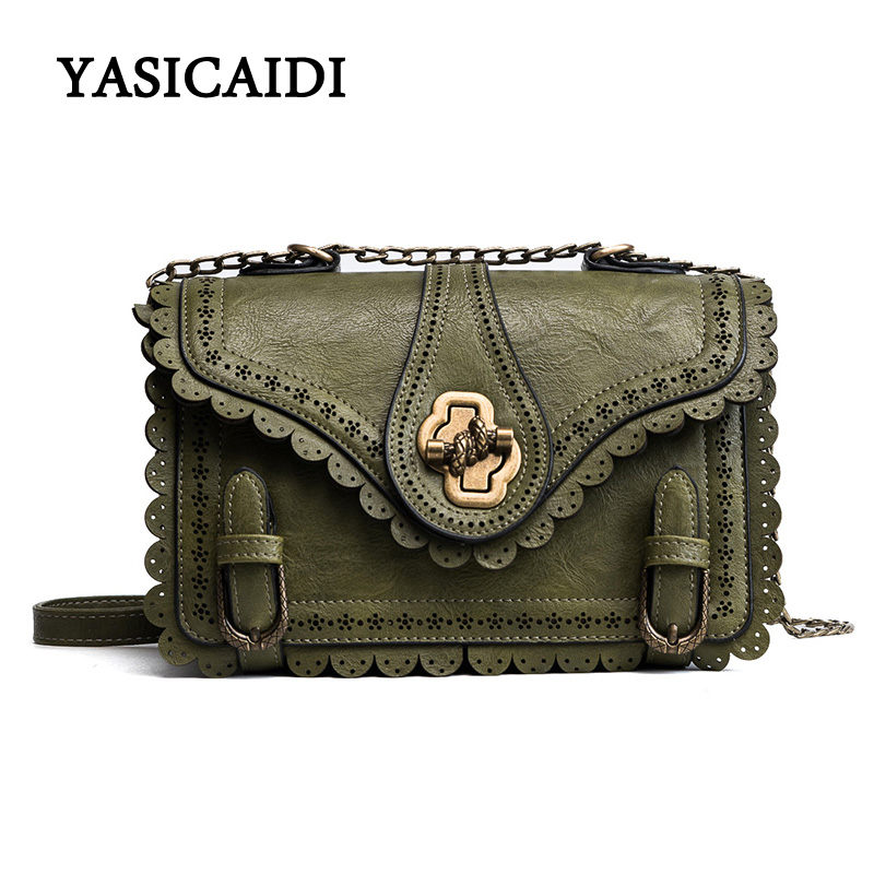 High Quality PU Leather Bags Women Crossbody Bags Vintage Ruffles Women Messenger Bags Famous Brand Bag Ladies Handbags Oil Wax candy color women shoulder bag famous brand messenger bags mini crossbody bags for women japan korean high quality design xh209