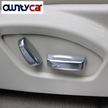 ABS Matte Chrome Seat Adjustment Button Cover Trim For VOLVO XC60 V60 V40 S60 S80 C30 C70 Accessories Car Styling