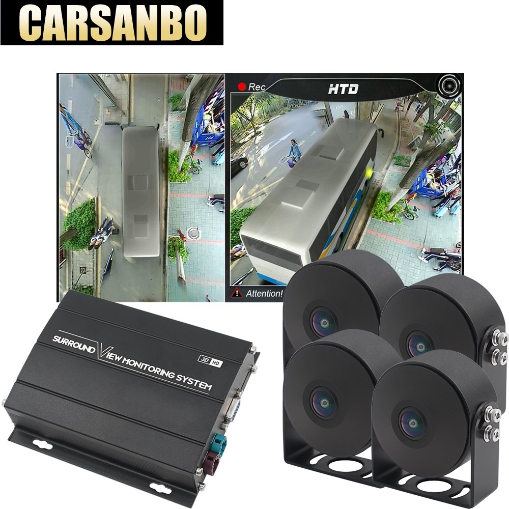 Carsanbo HD 360 Degree Surround View Camera System For Bus, Truck, Recording 3D View 360 Degree DVR Bird View Panorama System