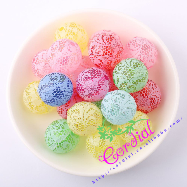 Free Shipping 20MM 100pcs/lot Printing White Rose On Mix Colors Acrylic Faceted Beads For Chunky Jewelry Making # CDBD-601079