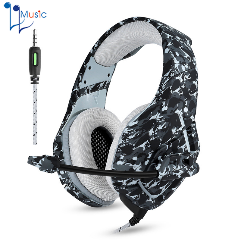 Camouflage PS4 Headset Bass Gaming Headphones Game Earphones Casque with Mic for PC Mobile Phone New Xbox One Tablet