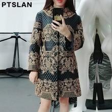 Ptslan Basic editions New Winter Women Genuine Sheepskin Leather Clothing O Neck Collar Causal Female Jacket