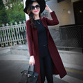 Dust coat in the autumn of 2016 the new ms knee-high long cardigan coat of cultivate one's morality dress
