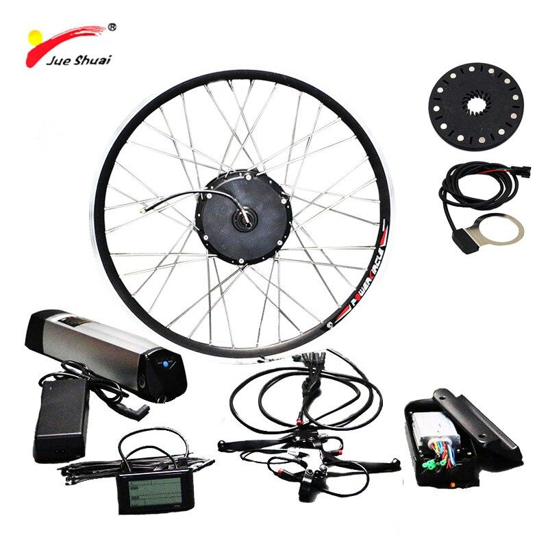 Darmowa wysyłka 36 V/48 V 250 W/350 W/500 W zestaw do roweru elektrycznego dla rowerów górskich 20 ''26