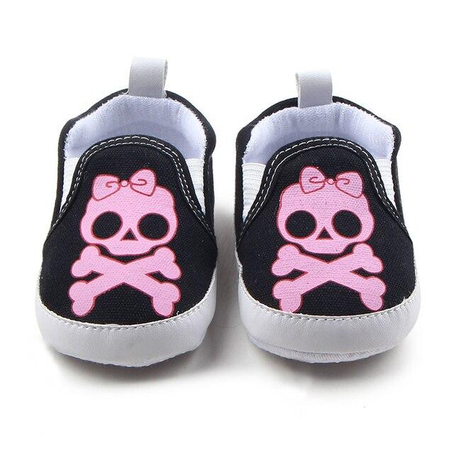 € 3.52 35% de réduction|Bébé Filles Rose Crâne Chaussures pour Garçons Pantoufles Nouveau Né Premiers marcheurs Infantile Berceau Chaussures