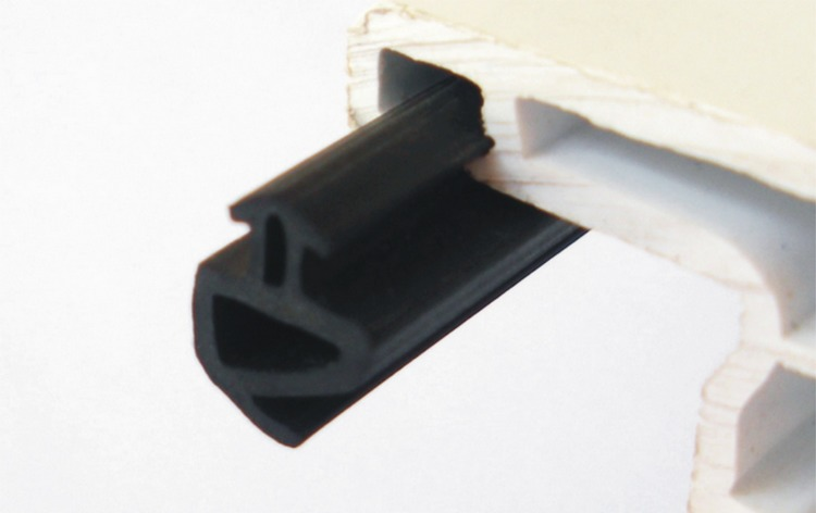 10m P - Type Steel Window Seal Glass Doors And Windows Sound Insulation Windproof Waterproof Epdm Rubber Strip Window Seals Beneficial To The Sperm