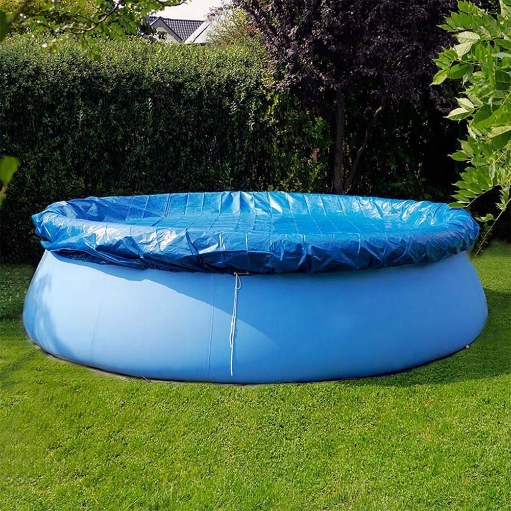 New Swimming Pool Cover Cloth Cloth Bracket Pool Cover Inflatable Swimming Pool Dust Cover Diaper Round Durable PE Cloth