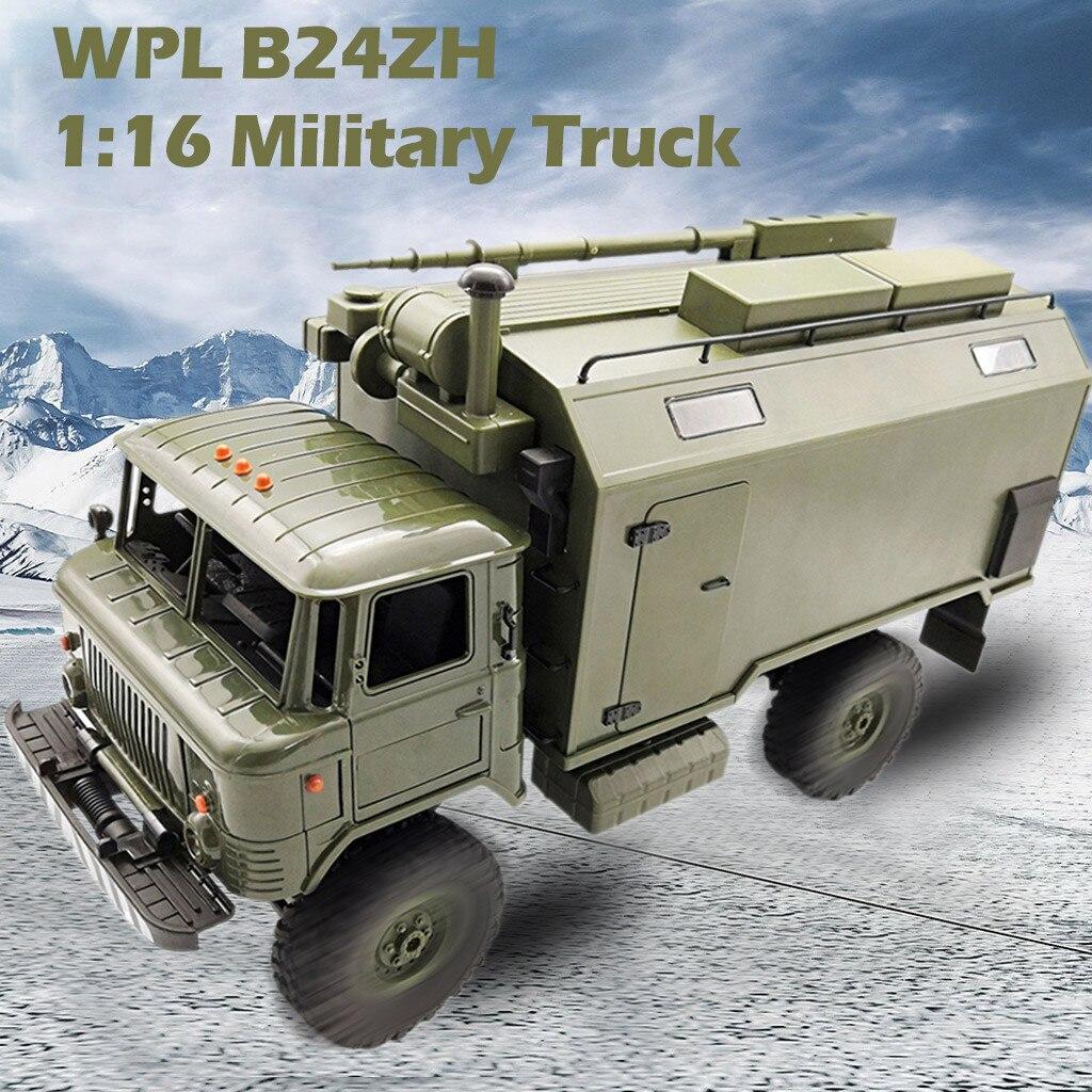 WPL B24ZH 1:16 2.4G 4WD RC voiture camion militaire tout-terrain roche chenille RTR vert Cool voiture enfants jouets cadeaux pour les garçons