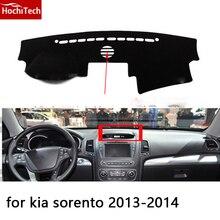HochiTech para kia sorento 2009-2014 dashboard mat Cojín Pad Photophobism almohadilla Protectora Sombra car styling accesorios