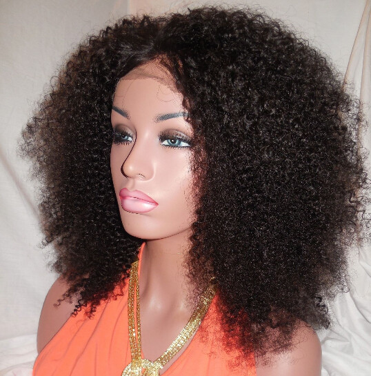 High Quality Afro Kinky Curly Synthetic Wig Cheap Lace