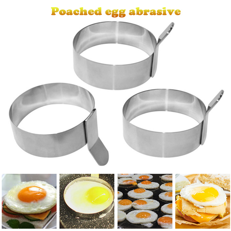 Stainless Steel Egg Ring Omelet Cooking Mold Non-Stick Pancake Egg Cooking Tool