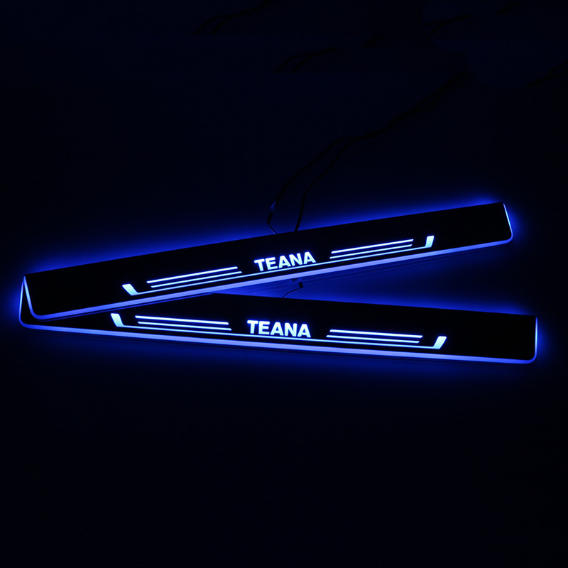 SNCN LED Car Scuff Plate Trim Pedal Door Sill Pathway Moving Welcome Light For Nissan Teana 2013 2014 2015 2016 Accessories in Interior Mouldings from Automobiles Motorcycles