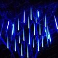 30 CM/50 CM/80 CM Meteor Tubo Chuveiro de Chuva Levou Decorativo Guirlanda de Natal Fada Do Jardim Ao Ar Livre À Prova D' Água árvore de 1 Conjunto 10 Peças