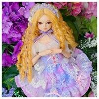 Новый стиль 45 см тело совместное кукла в платье принцессы 18 дюйм(ов) BJD кукла с модой длинные локоны волосы Водонепроницаемая Смола тело кукл