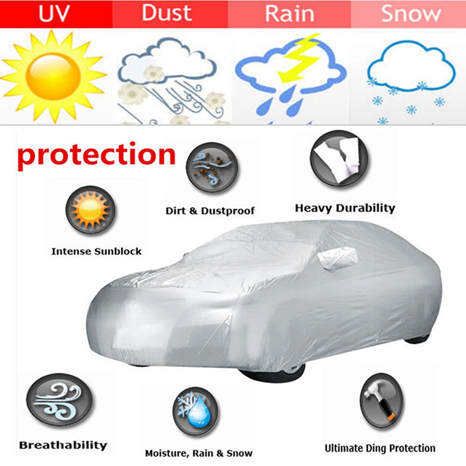X Autohaux 190T Universal Car Covers Indoor Outdoor Waterproof Sun Snow Dust Rain Resistant Protection Cover For SUV Sedan Truck