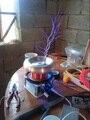 Bobina de tesla increíble intermitente Generador de alto voltaje generador Marx gran ARCO Enseñanza experimento