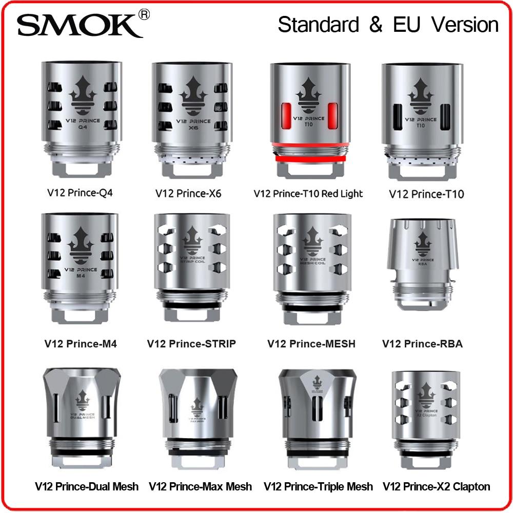 Original SMOK TFV12 Prince Coil RBA Q4 M4 T10 Light Mesh Strip Resistence Core Glass for V12 Prince Tank X-Priv E Cigarette Vape база tfv12