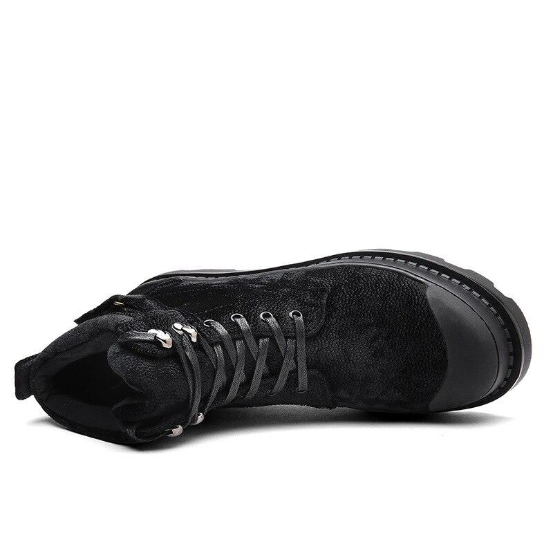 Zapatos Botas Moda 2018 Otoño Black gray Genuino Amb2022 Martin De Motocicleta Los Tobillo Primavera Trabajo Clásico Cuero Hombres Hombre SnSxvHPr