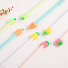 1 pcs kawaii Creative fruit gel pen Neutral pen stationery material escolar office school supplies недорого