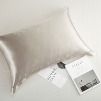 Natural Silk Pillowcase, Hypoallergenic, 19 Momme, 600 Thread Count 100 Percent Mulberry Silk, Queen Size with Envelope Closure