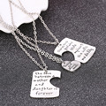 Sunshine 3 pcs a set Mother's Day Best Gift There Is Girl Who Stole My Heart &The Love Between Mother Daughter Letter Necklace